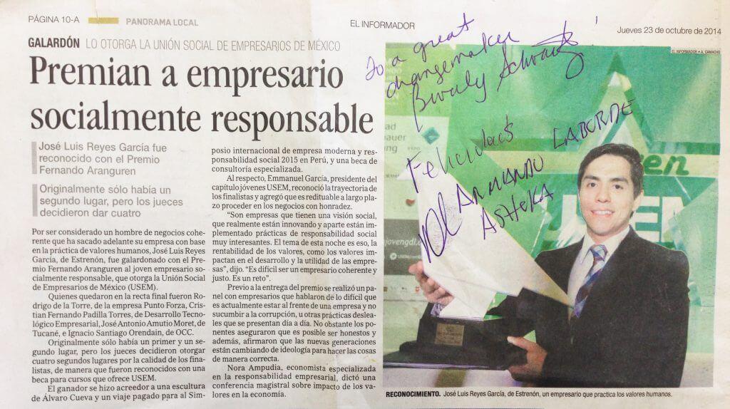 Foto para PREMIO RESPONSABILIDAD